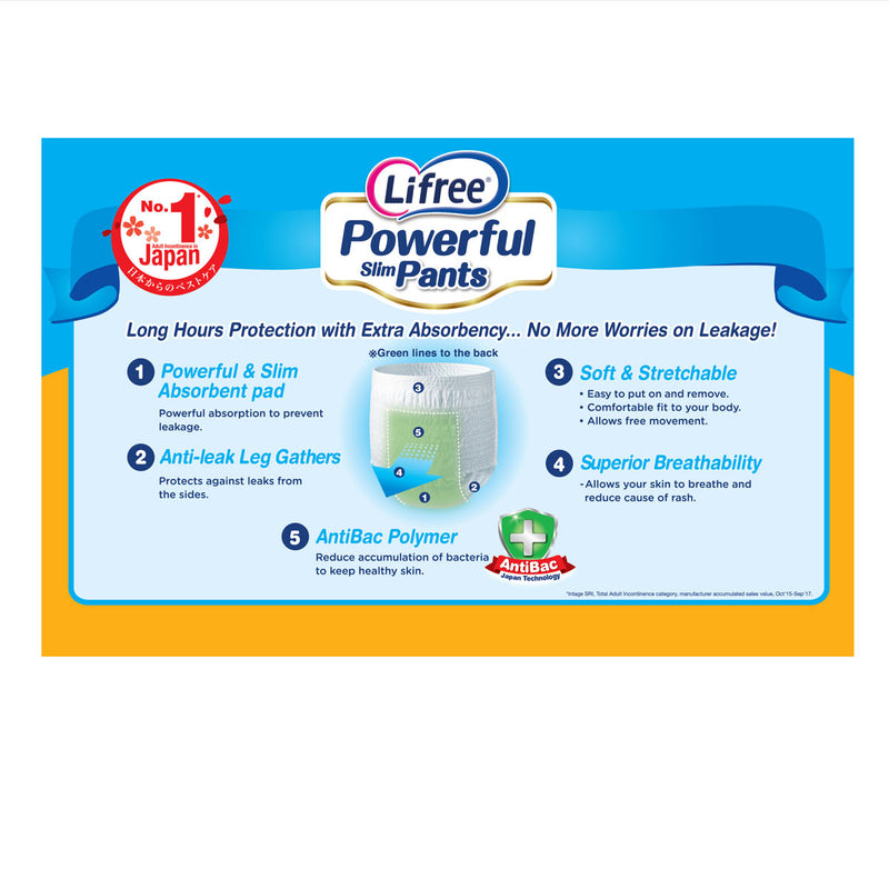 Lifree Powerful Slim Pants AB - L10 x 1 pack