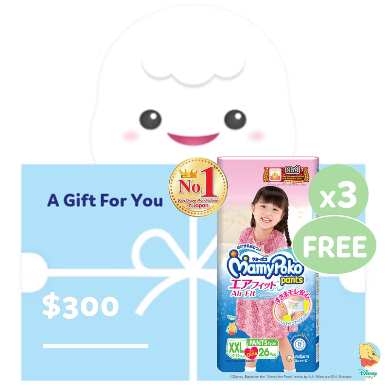 $300 Credits + FREE Carton Pants Girl XXL26 x 3 Packs