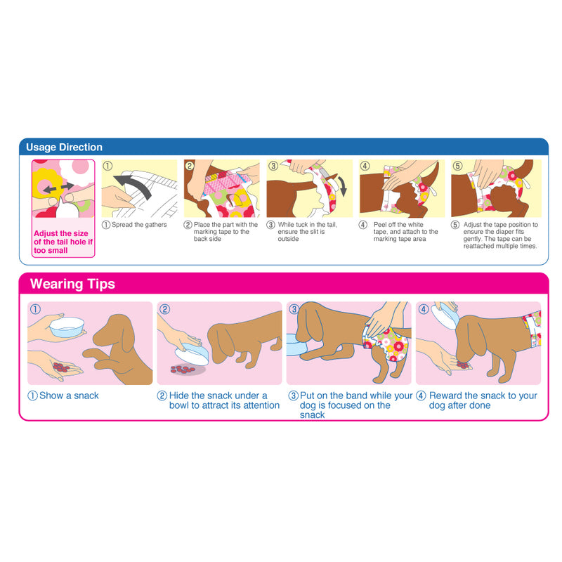 Dog Diapers Female - SS38 x 8 packs