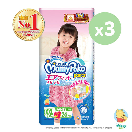 Mamypoko Air Fit Pants Girl - XXL26 x 3 pack