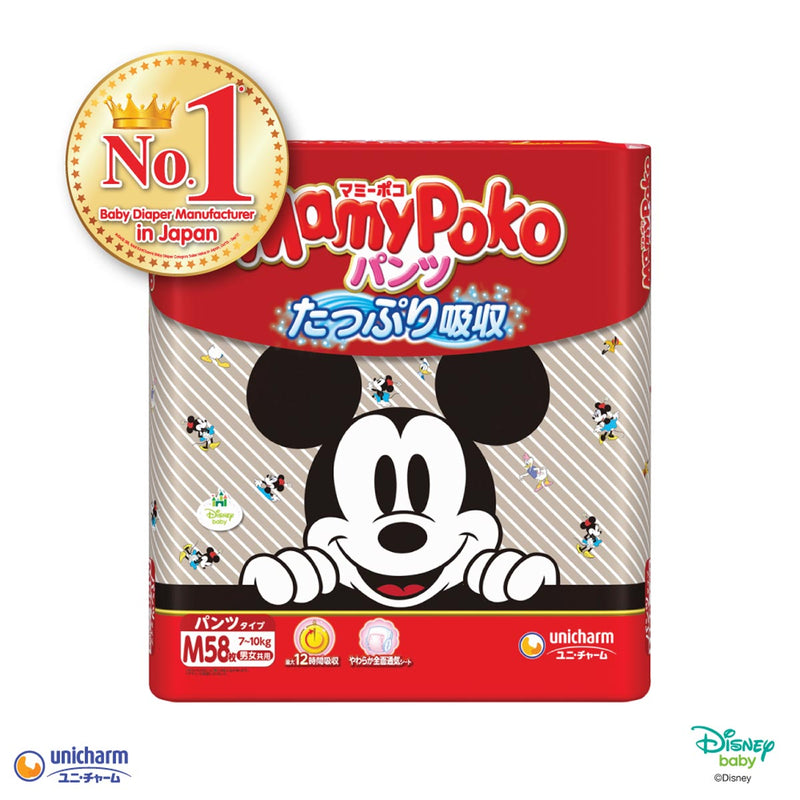Mamypoko Mickey Pants - M58 x 1 pack