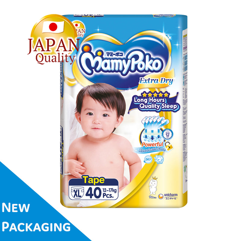 Mamypoko Extra Dry Tape - XL40 x 1 pack