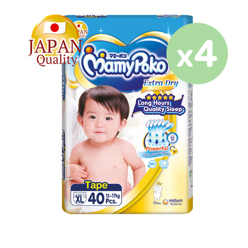 Mamypoko Extra Dry Tape - XL40 x 4 packs