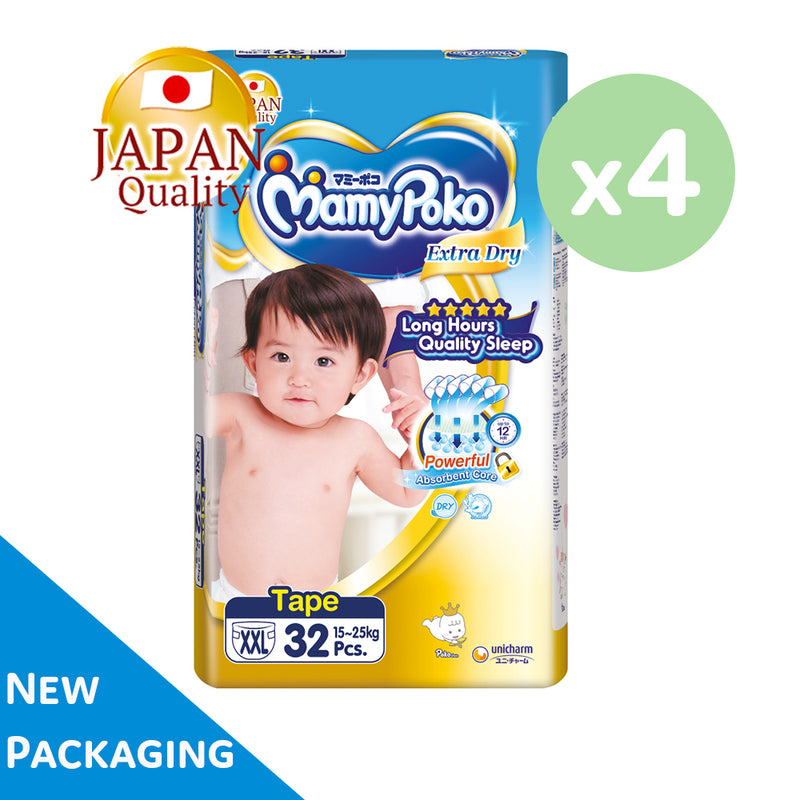 Mamypoko Extra Dry Tape - XXL32 x 4 packs