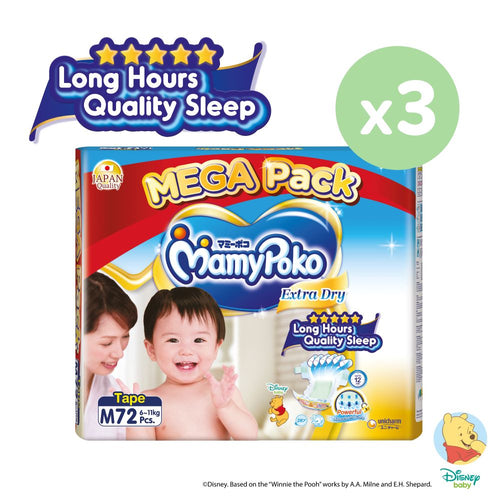 Mamypoko Extra Dry Tape - M72 x 3 packs