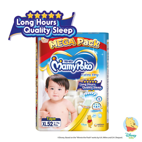 Mamypoko Extra Dry Tape - XL52 x 1 pack