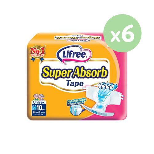 Lifree Super Absorb Tape - M10 x 6 packs