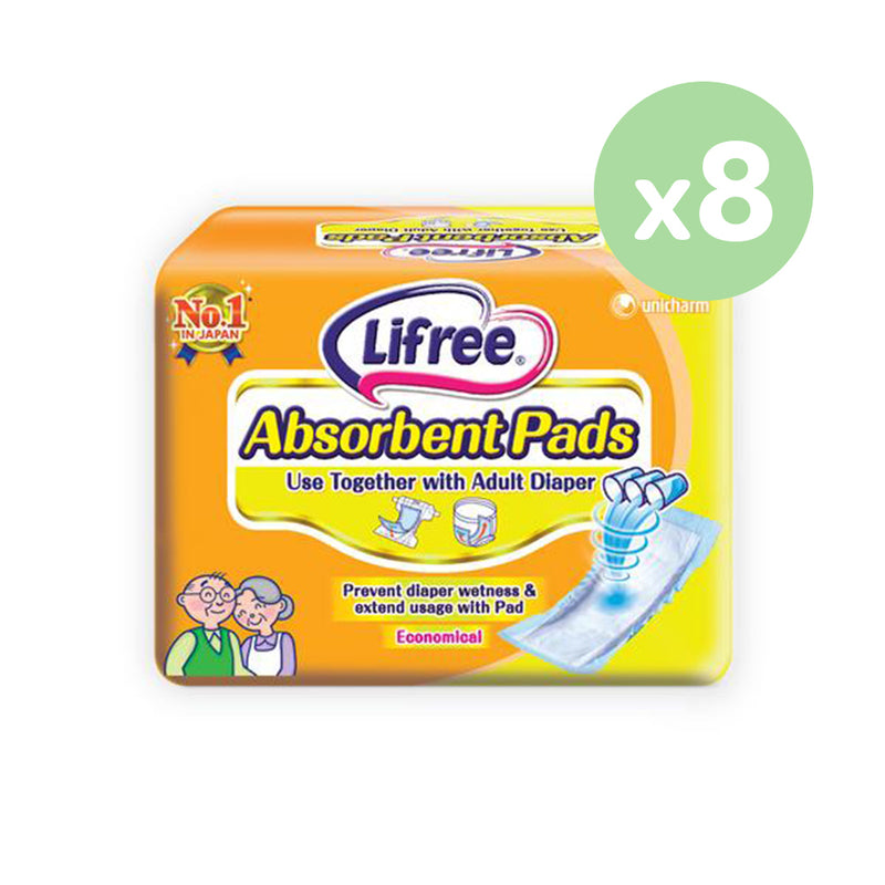 Lifree Absorbent Pads - 18pcs x 8 packs