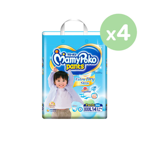 Mamypoko Extra Dry Skin Pants Boy - XXXL14 x 4 packs