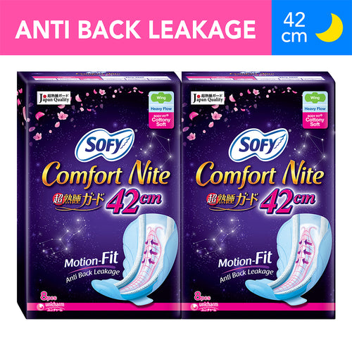 Sofy Body Fit Night Slim Wing 42cm - 8 x 2 packs (Twin Pack)