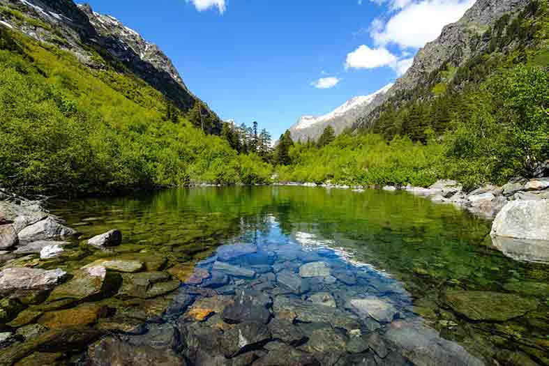 image of clear rocky mountain lake