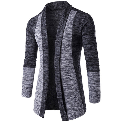 Lapel Long Sleeve Sweater Men Cardigan