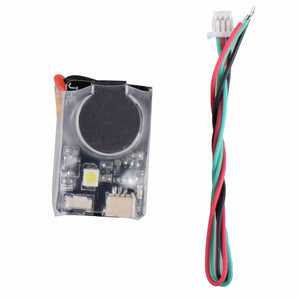 JHE42B 110DBI Finder Buzzer Built-in Battery with LED Light for RC Drone F3 F4 F7 Flight Controller