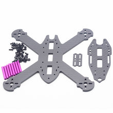 Charger l'image dans la galerie, HSKRC TWE210 210mm Wheelbase 4mm Arm 3K Carbon Fiber X Type FPV Racing Frame Kit for RC Drone