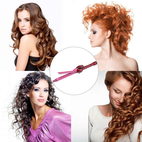 Barrel shape Rotation Curling Wand hair style