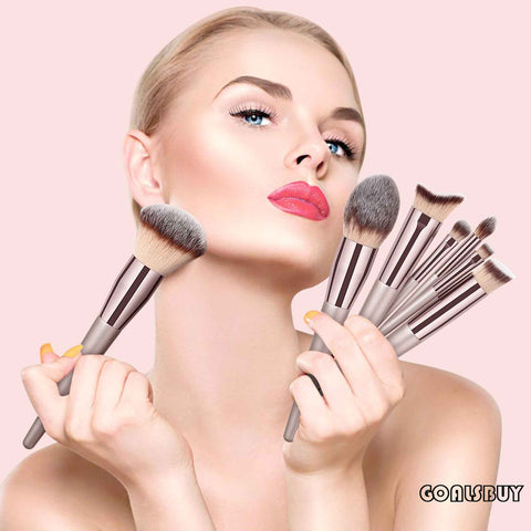 Wooden Foundation Cosmetic Brushes