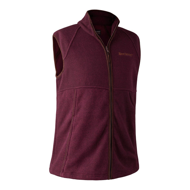 Deerhunter - Wingshooter Fleece Vest Jagtveste Deerhunter S Burgundy