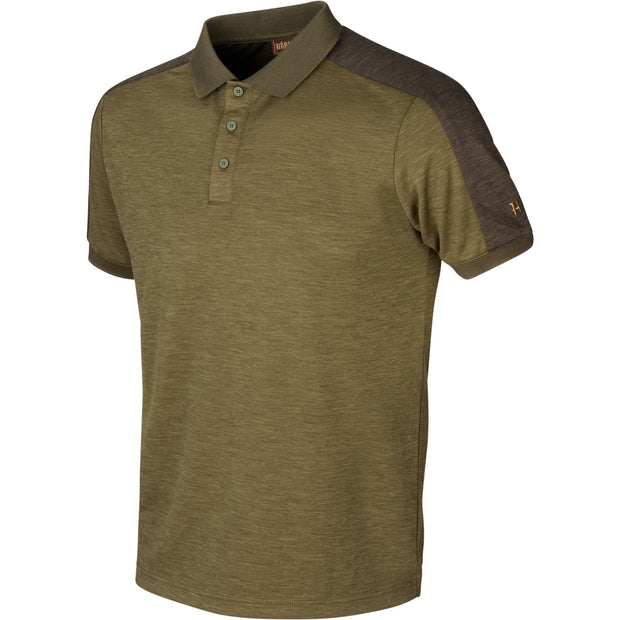 Härkila Tech polo Poloshirts Härkila Dark olive/Willow green S
