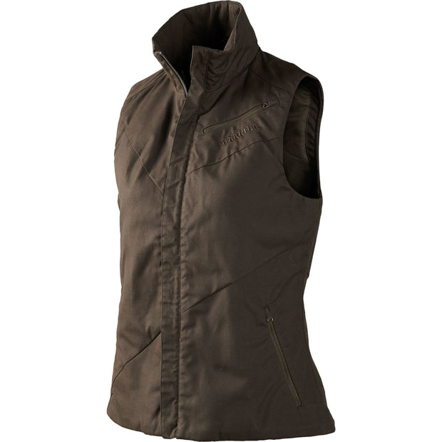Jerva Lady vest Jagtvest / Outdoor vest Härkila Shadow brown 36