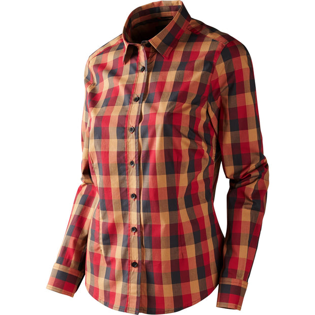 Lara Lady L/S skjorte Jagtskjorte / Outdoor skjorte Härkila Red/Black check S