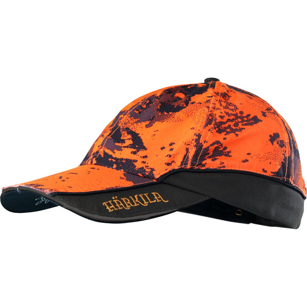 Lynx Safety light cap Jagtkasket Härkila AXIS MSP® Orange Blaze/Shadow brown One size