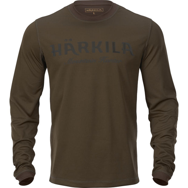 Mountain Hunter L/S t-shirt T-shirts Härkila Hunting green/Shadow brown S