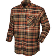 Newton L/S skjorte Jagtskjorte / Outdoor skjorte Härkila Dark burnt orange check S