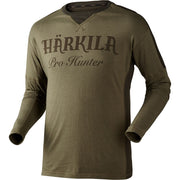 Pro Hunter L/S t- shirt Härkila Lake green/Shadow brown M