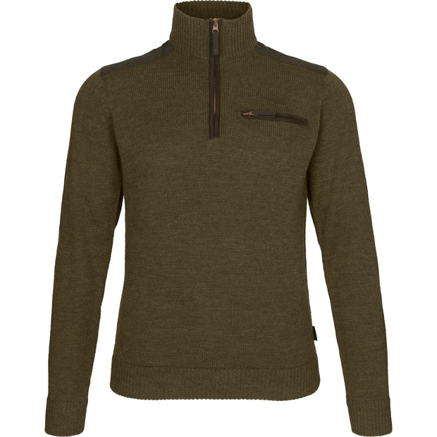 Seeland - Buckthorn half zip sweater Jagttrøjer / Outdoor trøje Seeland Shaded olive melange M