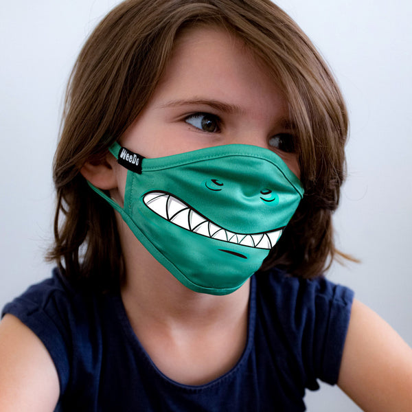 Smirking or ass-cool through the everyday jungle? With WeeDo funwear, wearing a mask is finally fun!