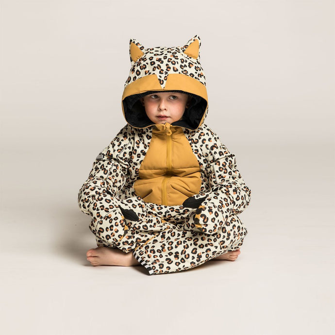 CHEETADO Leopard Snowsuit with brown belly