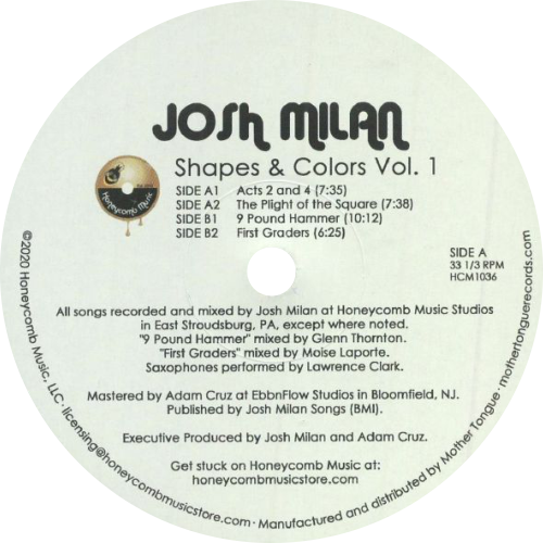 Josh Milan ‎/ Shapes & Colors Vol. 1