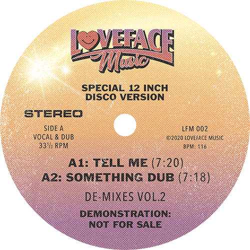 Loveface ‎/ De-Mixes Vol. 2