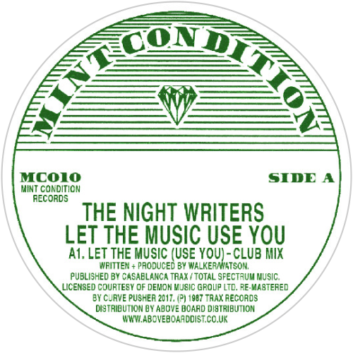 The Night Writers / Let The Music Use You - Luv4Wax