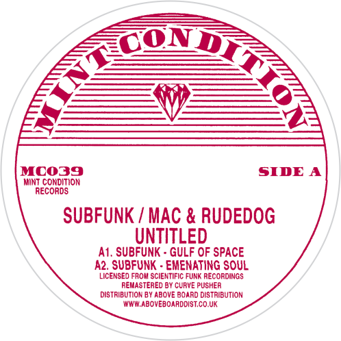 Subfunk / Mac & Rudedog / Untitled - Luv4Wax