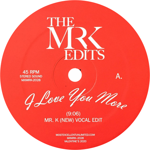 Rene & Angela / I Love You More (The Mr. K Edits) - Luv4Wax