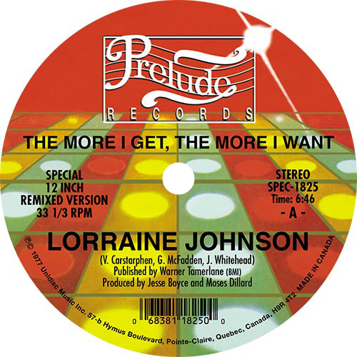 Lorraine Johnson ‎/ The More I Get The More I Want