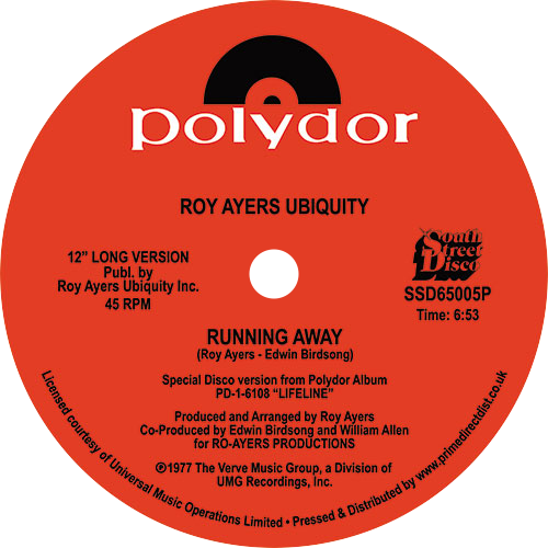 Roy Ayers Ubiquity / Running Away / Love Will Bring Us Back Together