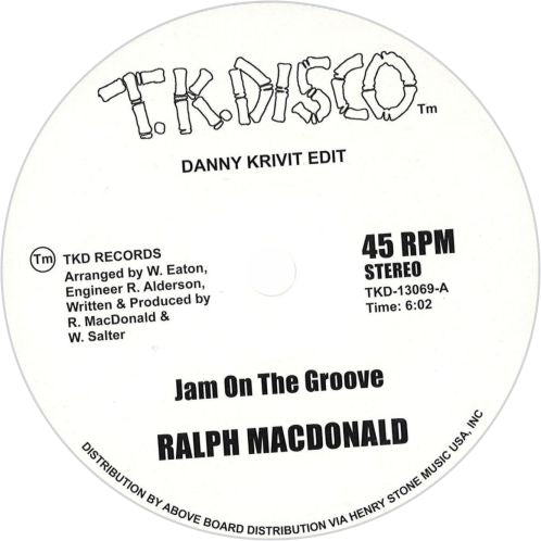 Ralph MacDonald, Foxy /  Jam On The Groove / Get Off Your Aaah And Dance - Luv4Wax