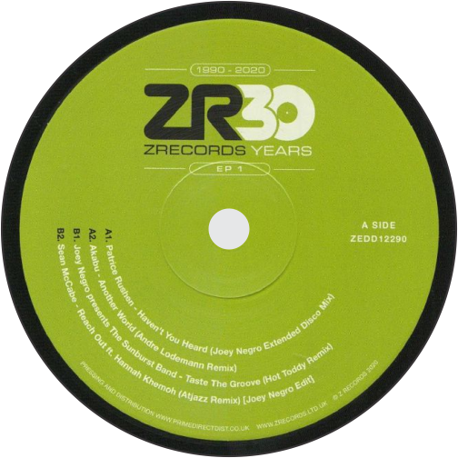 Patrice Rushen / Akabu / The Sunburst Band / Sean McCabe / Dave Lee Presents 30 Years Of Z Records EP 1