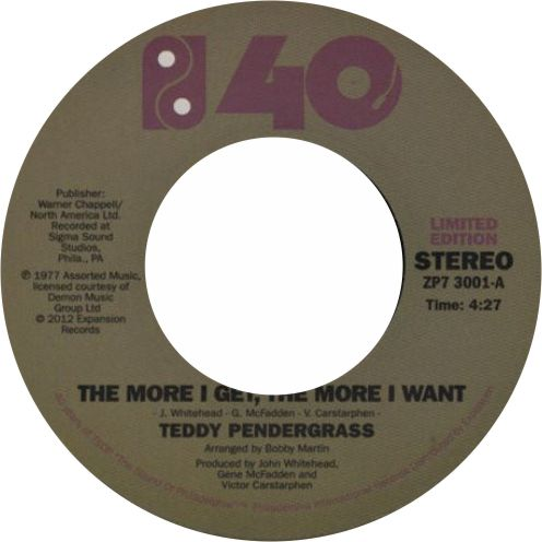 Teddy Pendergrass / The More I Get, The More I Want / You Can't Hide From Yourself - Luv4Wax