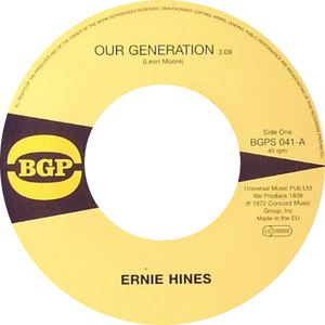 Ernie Hines / The Blackbyrds ‎/ Our Generation / Rock Creek Park