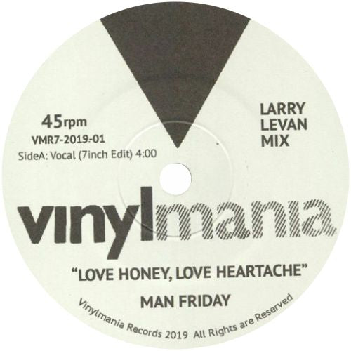 Man Friday / Love Honey, Love Heartache (Larry Levan Mix) - Luv4Wax