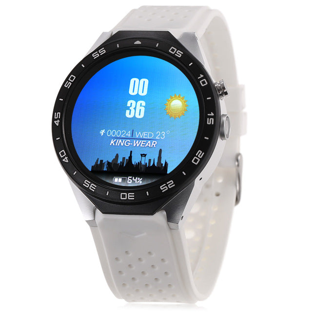Original KingWear KW88 -Screen 3G Smartwatch Phone MTK6580 Quad Core 512MB  4GB GPS Pedometer Smart Watch Men