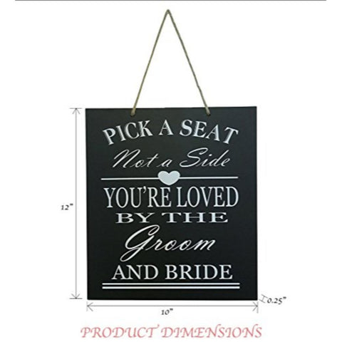 Wedding Reception & Ceremony Decoration Chalk Style Sign