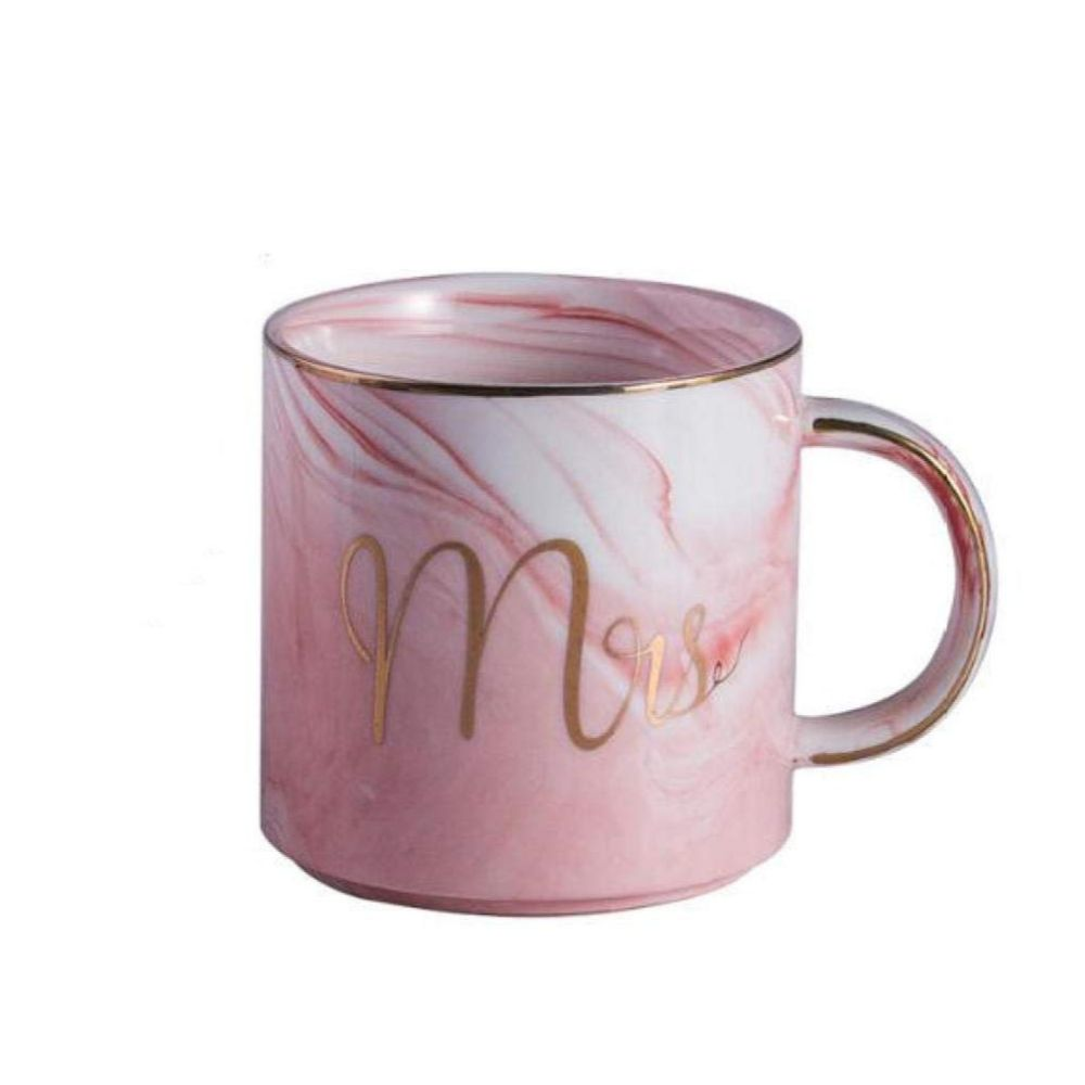 Mr. & Mrs. Marble Porcelain Coffee Mug