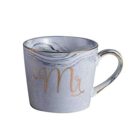 Image of Mr. & Mrs. Marble Porcelain Coffee Mug