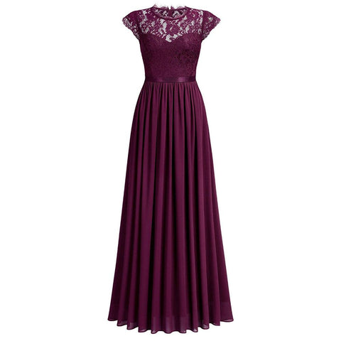 Image of Women's Formal Floral Lace Bridesmaid Dress