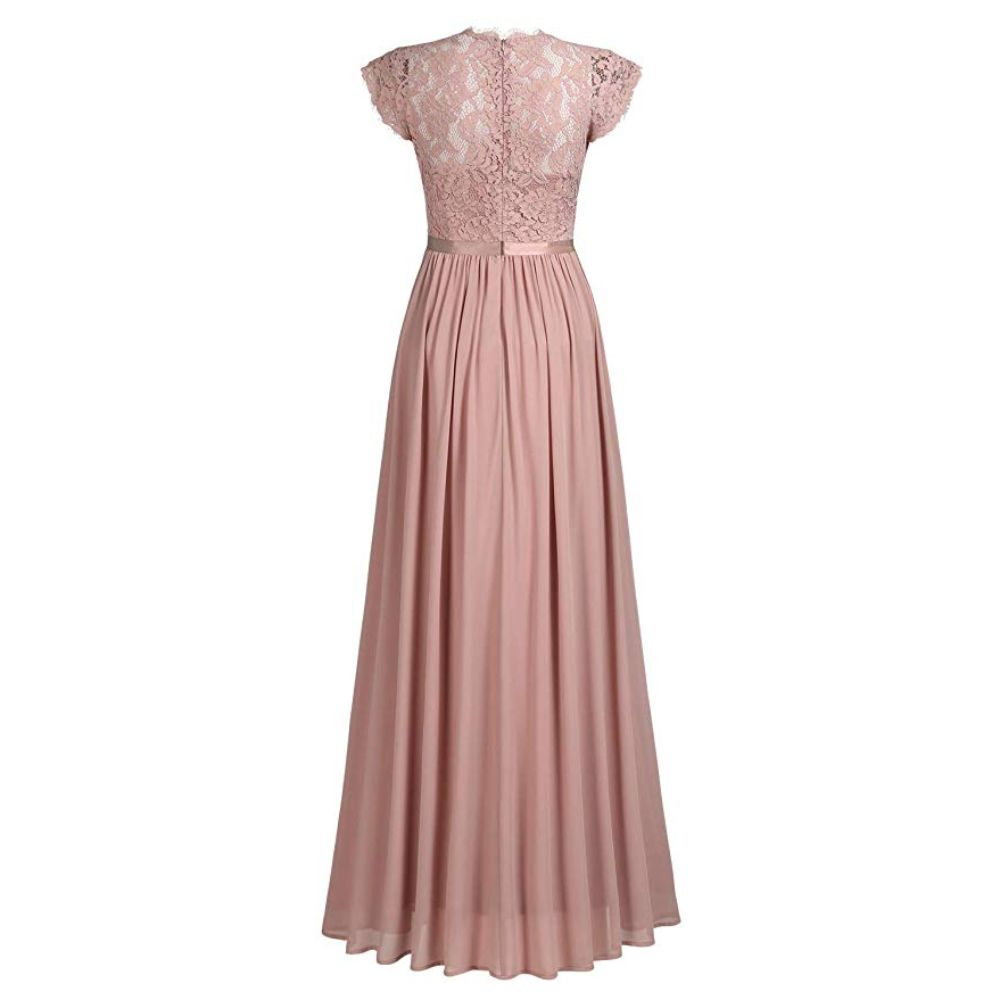 Women's Formal Floral Lace Bridesmaid Dress