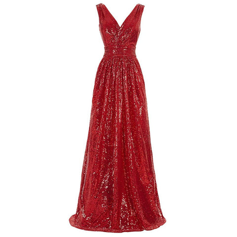 Image of Women's Sequin Sleeveless Bridesmaid Dress